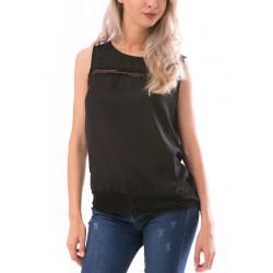 Bluza dama fara maneca beautynest  culoare neagra
