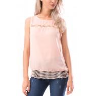 Bluza fara maneca beautynest culoare roz pal