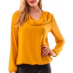 Bluza dama din voal throwback  culoare caramiziu