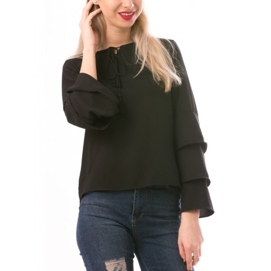 Bluza dama sweethunny negru