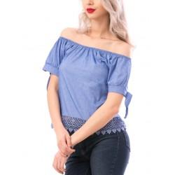 Tricou dama dressygirl albastru
